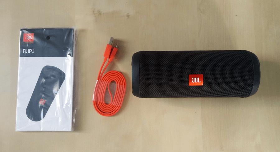 JBL Flip 3 Packungsinhalt